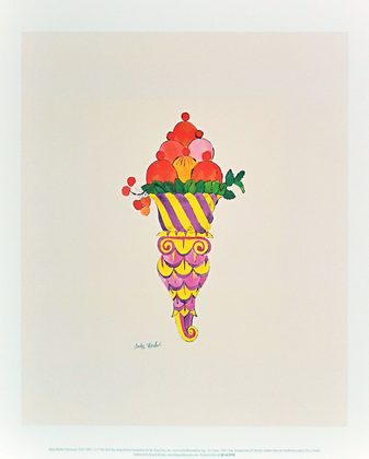Andy Warhol Ice Cream Dessert c.1959 (fancy red)