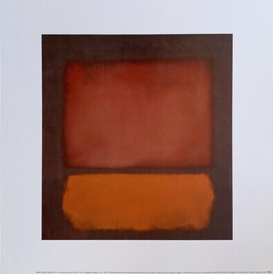 Marc Rothko Untitled 1962