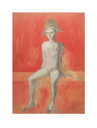 Pablo Picasso Sitzender Harlekin
