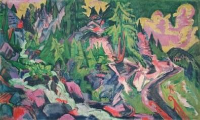Ernst Ludwig Kirchner Gebirgslandschaft mit Arven