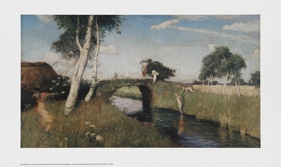 Otto Modersohn Sommer am Moorkanal