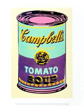 Andy Warhol Campbell's Soup Can 1965 (green & purple)