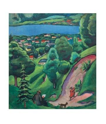 August Macke Landschaft am Tegernsee