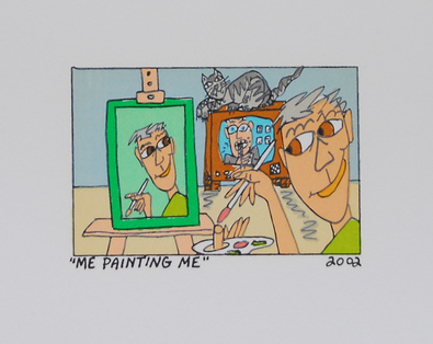 James Rizzi Me Painting Me