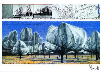 Christo Wrapped Trees Nr. VI, handsigniert
