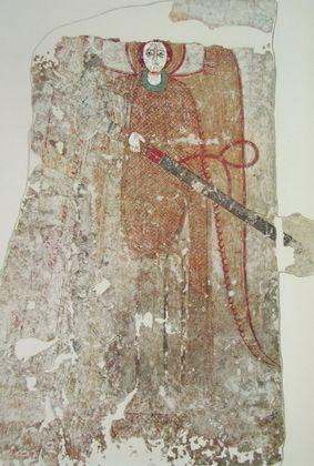 Wandmalerei Faras Erzengel Michael