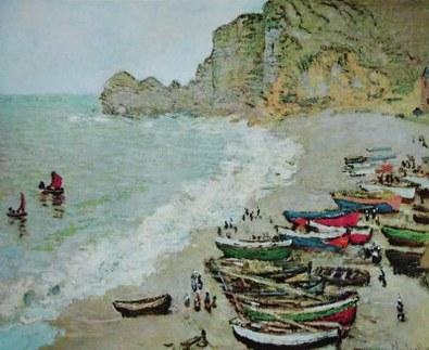 Claude Monet Kueste bei Étretat