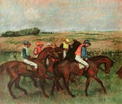 Edgar Degas Die Jockeys