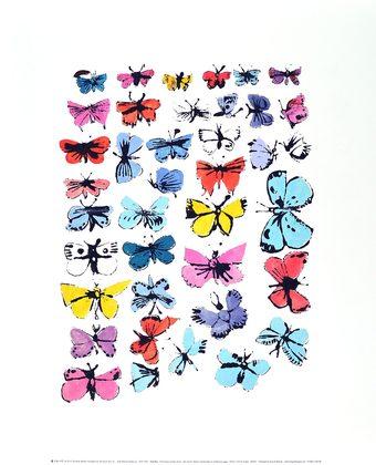Andy Warhol Butterflies 1955