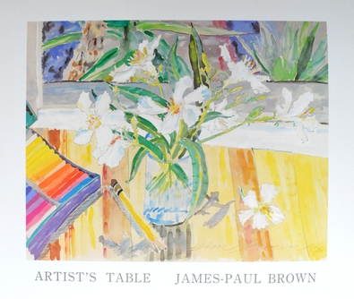 James-Paul Brown Artists Table