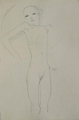 Egon Schiele Maedchenakt   1911