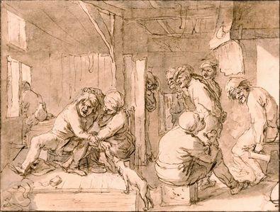 Adriaen Brouwer In einer Bauernschenke
