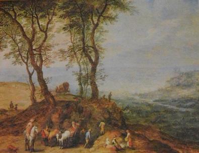 Jan Brueghel d.Ae. Rast auf einem Huegel