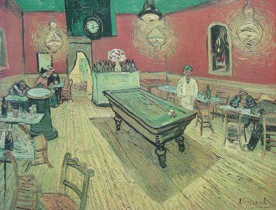 Vincent van Gogh Cafe am Abend mit Billard