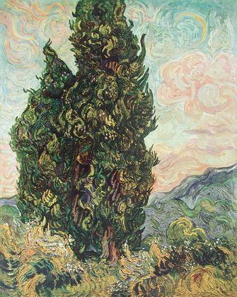 Vincent van Gogh Zypressenlandschaft
