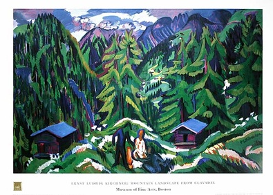 Ernst Ludwig Kirchner Mountain Landscape from Clavadel