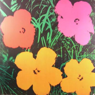 andy warhol blumen flowers pink poster kunstdruck bei. Black Bedroom Furniture Sets. Home Design Ideas
