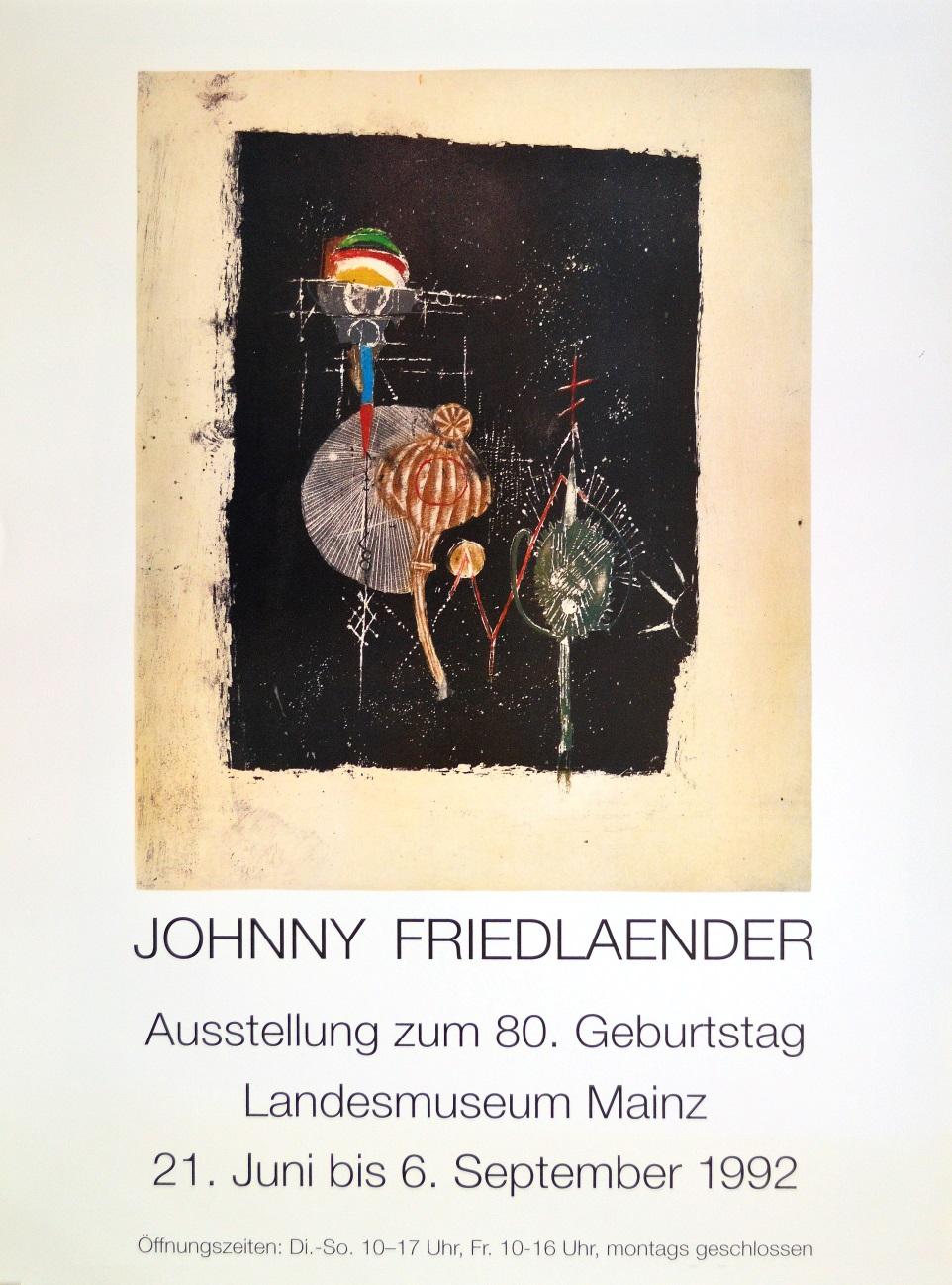 johnny friedlaender landesmuseum mainz poster kunstdruck bild plakat 84 1x59 4cm ebay. Black Bedroom Furniture Sets. Home Design Ideas