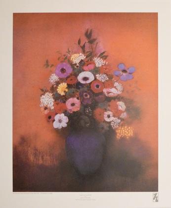 Odilon Redon Blaue Vase mit Blumen