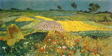 Vincent van Gogh Die Ebene von Auvers Sur Oise