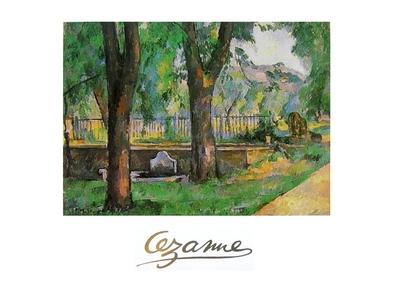Paul Cezanne Bacino e fontanile del Jas de Bouffan