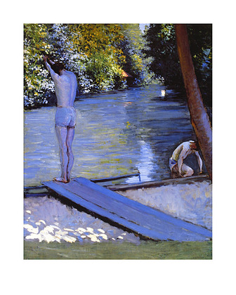 Gustave Caillebotte Bathers, Edges of the Yerres, 1878