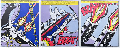 Roy Lichtenstein As I opened Fire (Triptychon)