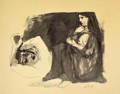 Pablo Picasso Frau mit schlafenden Mann