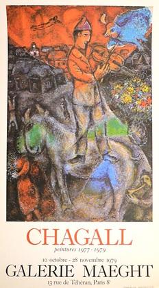 Marc Chagall Le Violoniste (Peintures)