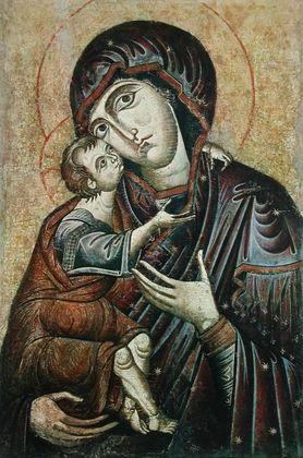 Ikone Byzant Die Muttergottes von Zvonik