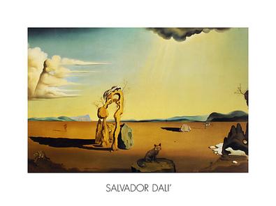 Salvador Dali Die nackte Frau in der Wueste