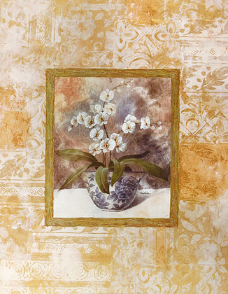 Tan Chun 2er Set 'Romantic Still Life with Orchid I + II'