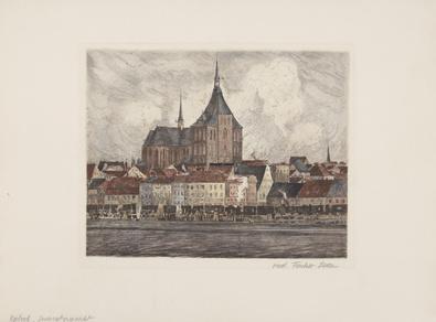 Fischer-Lenz Rostock Gesamtansicht (coloriert)
