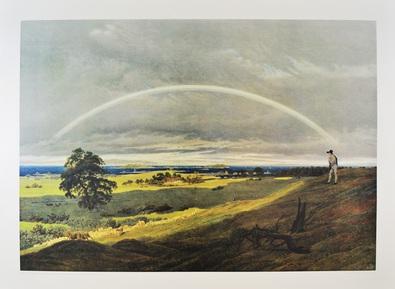 Caspar David Friedrich Landschaft mit Regenbogen