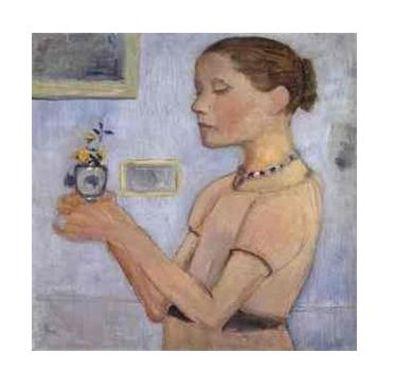 Paula Modersohn-Becker Junges Maedchen mit gelben Blumen