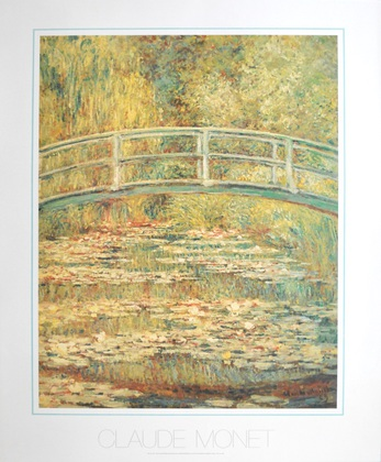 Claude Monet Bridge over lilies