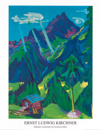 Ernst Ludwig Kirchner Buendner Landschaft