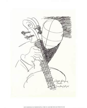 Man Ray Suonando Bach