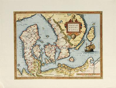 Abraham Ortelius Daniae Regni Typus (Map of Denmark)