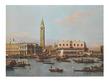 Antonio Canaletto Ansicht der Piazza und der Riva Degli Schiavoni von der Meerseite