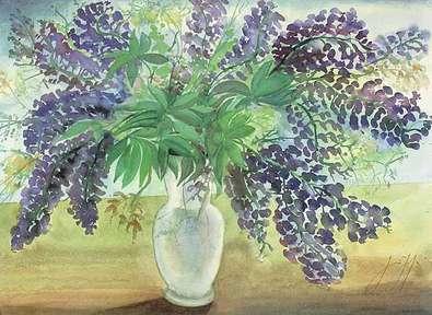 Guenter Grass Blumenstrauss ( lila )