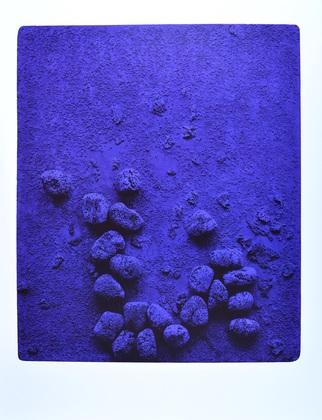Yves Klein Blaues Schwammrelief (Relief eponge bleu: RE19), 1958