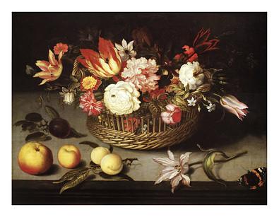 Johannes Bosschaerts Corbeille de Fleurs