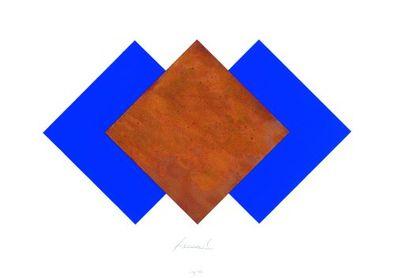 Juergen Freund Quadrate Rost und Blau