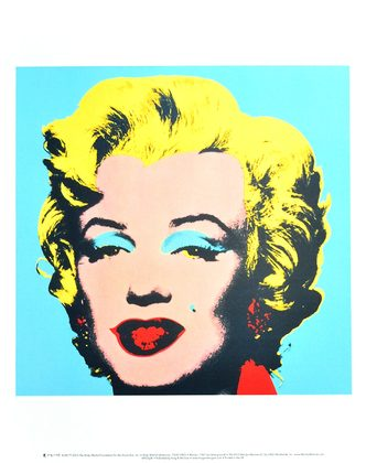 Andy Warhol Marilyn 1967 (on blue ground)