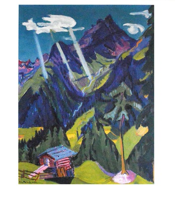 Ernst Ludwig Kirchner Buendner Landschaft mit Sonnenstrahlen, 1937