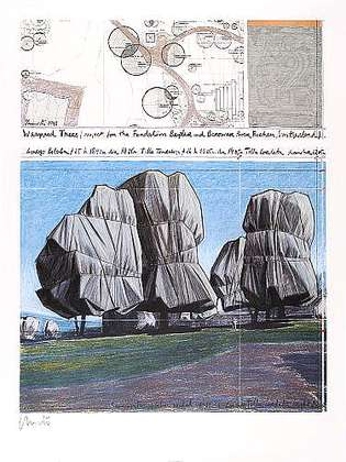 Christo Wrapped Trees Nr.II, handsigniert