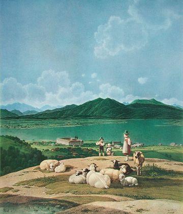 Wilhelm Alexander Wolfgang von Kobell Blick auf den Tegernsee