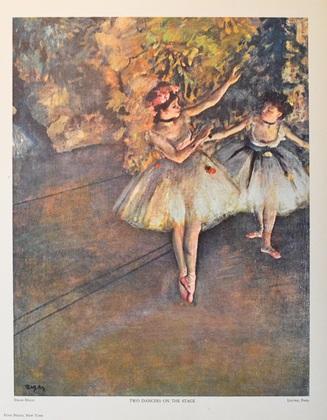 Edgar Degas Zwei Taenzerinnen auf der Buehne