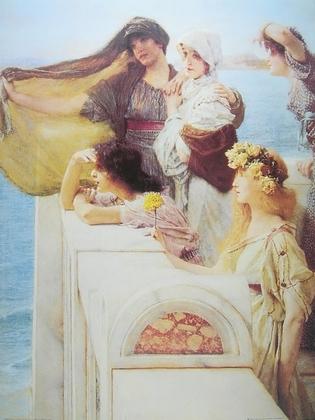 Alma Tadema An der Wiege der Aphrodite